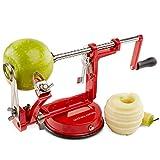 Andrew James Eplucheur Pomme 3 en 1 Péle Pomme avec Support Ventouse Pour Tout les Types de Fruits...
