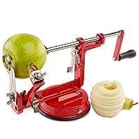 Cet appareil pratique peut être utilisé avec plus que de pommes. Vous pouvez l'utiliser pour préparer des salades de fruit avec presque tous les fruits, ou vous pouvez l'utiliser pour trancher des fruits pour créer des compotes, des chutneys et des t...