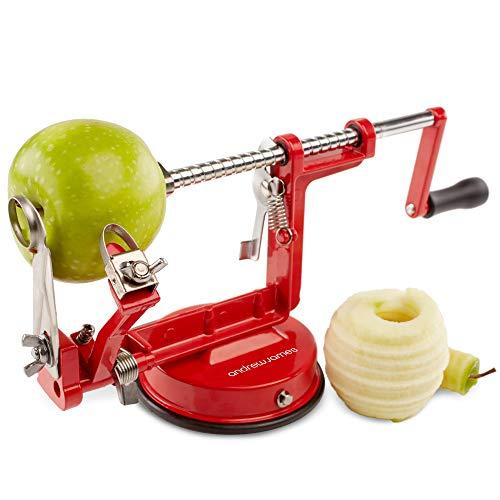Andrew James Apfelschäler Apfelentkerner und Apfelschneider 3 in 1 - Erleichtert die Zubereitung von Obst und auch Kartoffeln