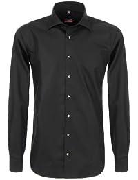 ETERNA Herren Modern Fit Uni Popeline Langarmhemd weiss