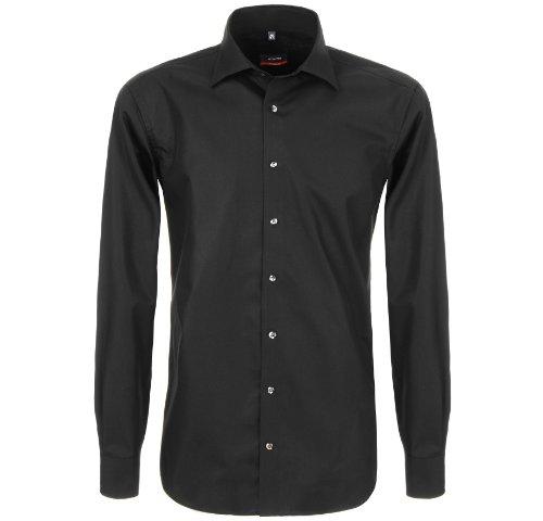 Eterna - Shirts Coupe Moderne, De Noir