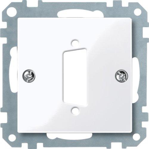 D-subminiatur-stecker (Merten 467725 Zentralplatte für D-Subminiatur-Steckv. 15-polig, aktivweiß glänzend, System M)