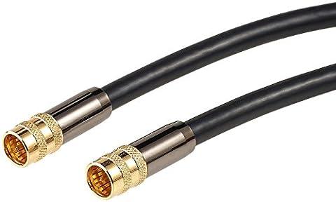 auvisio Reciever-Kabel: HDTV-Sat-Antennenkabel (F-Stecker), 10 m, 105 dB, 4-fache Abschirmung (Sat-Receiver & -TV-LNB-Anschlusskabel)