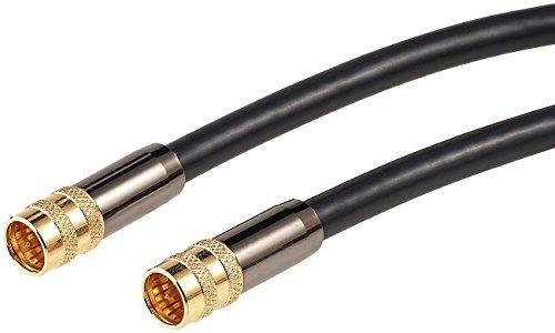 auvisio Reciever-Kabel: HDTV-Sat-Antennenkabel (F-Stecker), 10 m, 105 dB, 4-fache Abschirmung (TV-Antennenkabel für Satellitenschüssel)