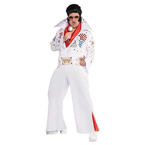 Kostüm Vegas - König von Las Vegas Elvis Presley Superstar Kostüm Herren Amscan