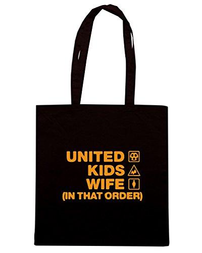 T-Shirtshock - Borsa Shopping WC1149 dundee-united-kids-wife-order-tshirt design Nero