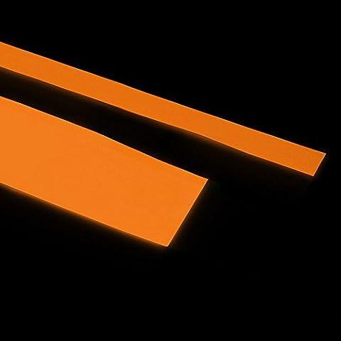Glow in the Dark striscia adesiva in vinile Neon Nastro, Vinile, Red glows Orange, 10 cm