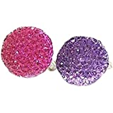 Estilo al azar forma redonda niños / niños anillos ajustable anillos de diamantes de imitación 5 piezas