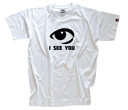 SEE YOU - AUGE T-Shirt Weiss XXXL