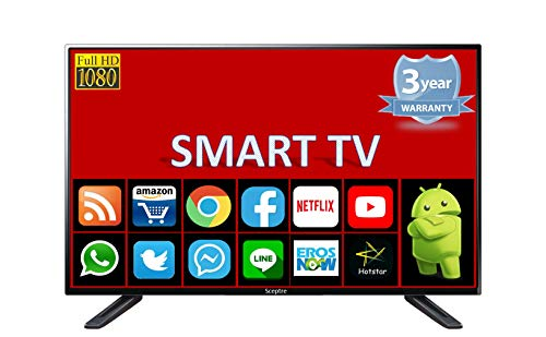 Sceptre Full HD 1080p Smart Android LED TV with Air Mouse Keyboard, Inbuilt RAM and Storage Memory