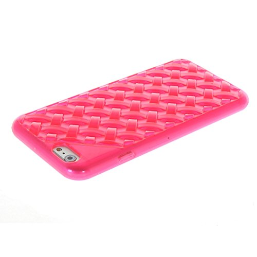 MOONCASE TPU Silicone Housse Coque Etui Gel Case Cover Pour Apple iPhone 6 ( 4.7 inch ) Rouge Hot Rose