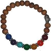 IndianStore4All 8mm Edelstein & Sandelholz Perlen + 1Budhha Perlen Chakra Armband, Yoga Armband Buddhistisches... preisvergleich bei billige-tabletten.eu