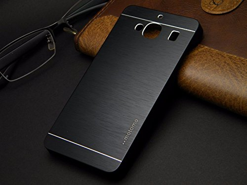 Tarkan Premium Brushed Aluminium Protective Hard Back Case Cover for Xiaomi Redmi 2 (Black)