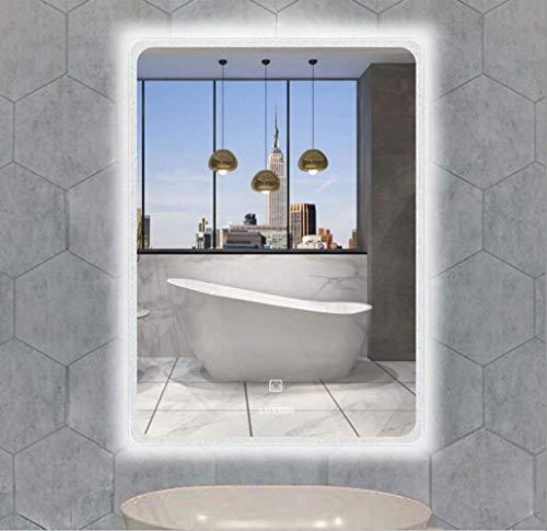 LUVODI Espejo Baño Antivaho con Iluminación LED 600 x 800mm Espejo de Baño Moderno con Interruptor...