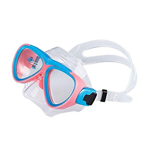 Tauchmaske für Kinder, klare Sicht, trocken, Antibeschlag, Atemschlauch, Schnorchelmaske Free Size rosa, blau