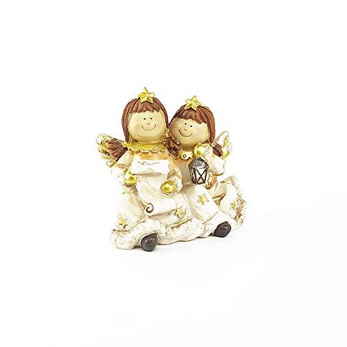 Statuetta coppia di angelia tipo thun idea bomboniera matrimonio battesimo comunione idea regalo ormaneto decorazione oggettistica per natale