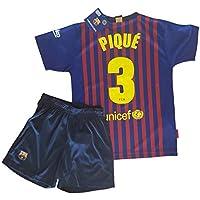 Conjunto Camiseta y Pantalon 1ª Equipación 2018-2019 FC. Barcelona -  Réplica Oficial Licenciado 81b10e90c75