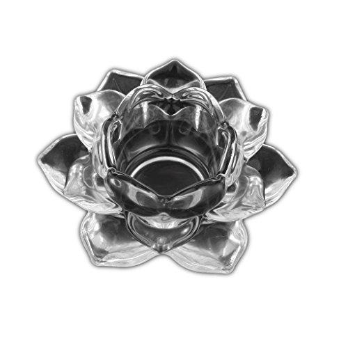 Mallcover 2 pièces Porte-bougies en cristal Porte-bougies en verre Lotus Porte-bougies Tea Light Mariage créatif, décoration de table de maison