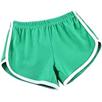 Sorts Pantalons Couleur Tight Shorts Shorts Shorts Green Beach