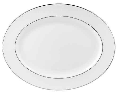 Lenox Hannah Platinum 16-Inch Bone China Platter by Lenox Bone China-16 Zoll-platter