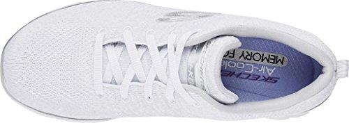 Skechers Flex Appeal 2.0 Opening Night Maschenweite Laufschuh White/Silver
