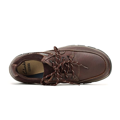 Clarks Rampart Go GTX, Scarpe stringate Brogue Uomo Marrone (Mahogany Leather)