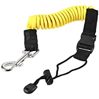 Queta - Cuerda elástica de Cuerda para Corbatas de Pesca, Kayak, Tabla de Surf, cordón en Espiral Amarillo Amarillo