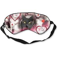 Sleep Eye Mask Cat Love Heart Lightweight Soft Blindfold Adjustable Head Strap Eyeshade Travel Eyepatch preisvergleich bei billige-tabletten.eu