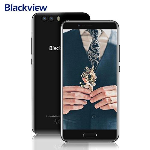 """[2018 Nowy] Mobile Phone 4G, Blackview P6000 6GB RAM + 64GB ROM Helio P25 Dual SIM Telefony komórkowe, Telefony 6180mAh Wielki baterii 12V 2A Fast Charge Dwa aparaty 21MP + 8MP Smartphone Android 7.1, 5.5 """"wyświetlacz FHD (1080 * 1920) 0,1 s Touch ID / Face ID -Nero"""