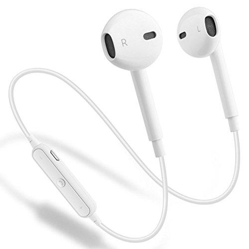 Wireless Bluetooth Headphones, GEJIN Bluetooth 4.1 Waterproof Sports Earphones, Noise Cancelling Earbuds (White)