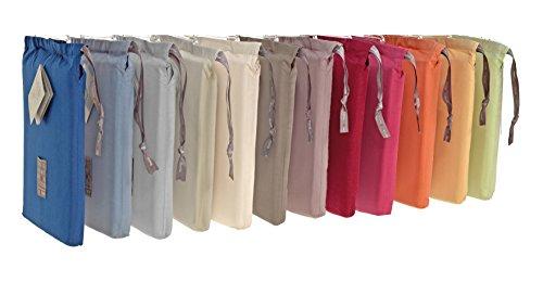 Gilania lenzuola sfuse tinta unita in 100% cotone percalle disponibile sotto con angoli elasticizzati, coppie federe, lenzuoli sopra, singoli e matrimoniali in più colori