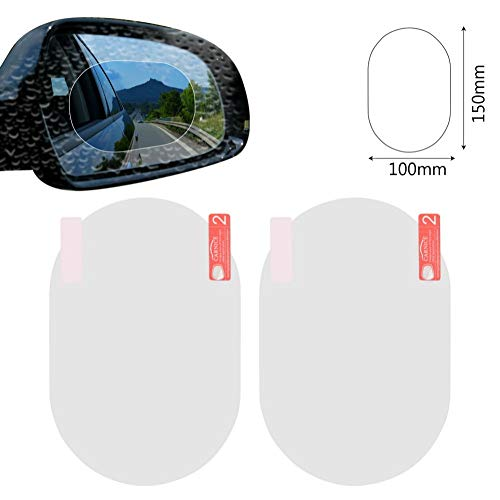AITU Auto Aufkleber 2 Teile/Satz Auto Aufkleber Anti Fog Auto Rückspiegel Schutzfolie Autospiegel Fenster Klar Film Membran Anti-Blend Wasserdicht -