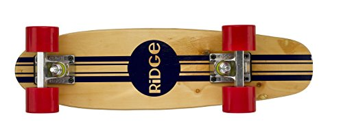 Ridge Retro Skateboard Mini Cruiser, rot, 22 Zoll, WPB-22