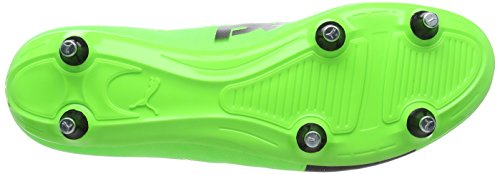 Puma Evopower Vigor 4 Sg, Chaussures de Football Homme Vert (Green Gecko-puma Black-safety Yellow 01)