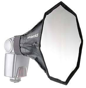 Diffuseur pour flash en boîte à lumière universelle de studio en octogone par Polaroid, pour Canon EOS, Nikon, Olympus, Pentax, Panasonic, Sony, Sigma et autres flashs externes (écran 18 cm x 18 cm)