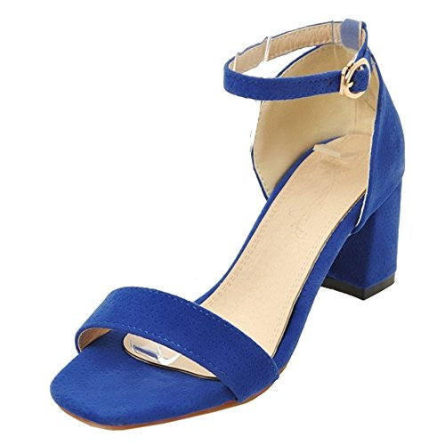 Coolcept Femmes Simple Talons Bloc Sandales blue