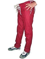 Pantalones para Hombre Siglo XV - Rojo oscuro Color , Pantalones medievales de lana, Vestimenta medieval, Pantalones medievales, Recreación histórica, Rol en vivo