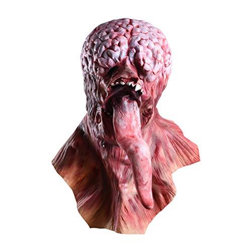 Jiahe Teufel Masken Maskerade Partei Silikon Horror Zombie Terror Mask Leben wie lebendige authentische Latex Partei Silikon schwarz Party Bar Maskerade lustig Full Face