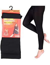 Ladies Heat Guard Black Thermal Leggings 140 Denier Tog 0.5 Small Medium Large