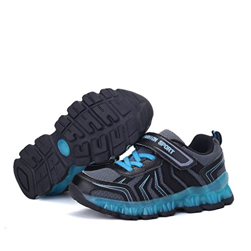 DoGeek LED Schuhe Kinder Damen 7 Farbe USB Aufladen Leuchtend Sportschuhe Led Kinder Farbwechsel Sneaker Turnschuhe für Herren Damen Blau
