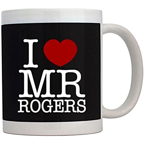 Teeburon I love Mr Rogers Mug by Teeburon