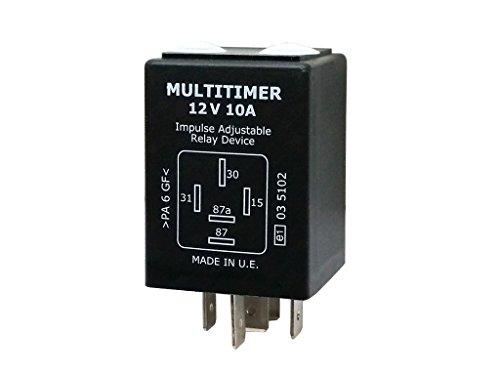Preisvergleich Produktbild Universal Multitimer Zeitrelais 12V 0, 5 sek - 10 std.