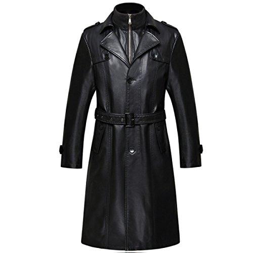 4e5aa5aa3a2a9b Herren Winter Warm Vintage Mantel Outdoor Militär Slim Fit Smart Casual  Reißverschluss Lange Leder.