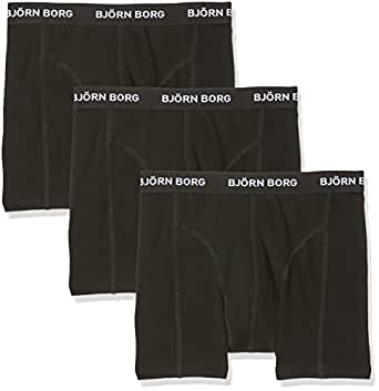 Bjorn Borg Men's Shorts Noos Solids 3P Boxer (Black), X-Small Pack of 3