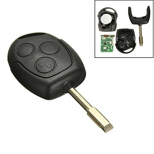 Katur 1 Stück 3 Tasten 433Mhz Fernbedienung Entry Schlüsselanhänger für FORD / Mondeo/Fiesta/Focus/KA TRANSIT