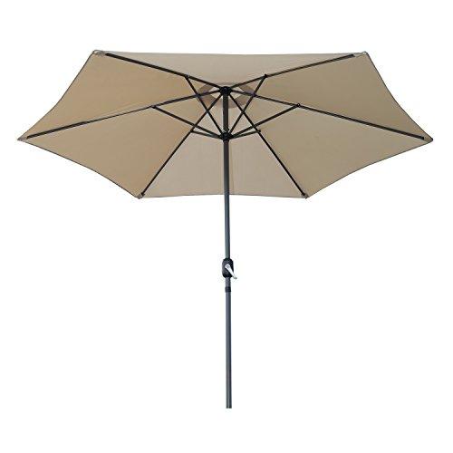 Angel living 300cm ombrellone in alluminio e poliestere resistente alla ruggine protezione uv (beige)