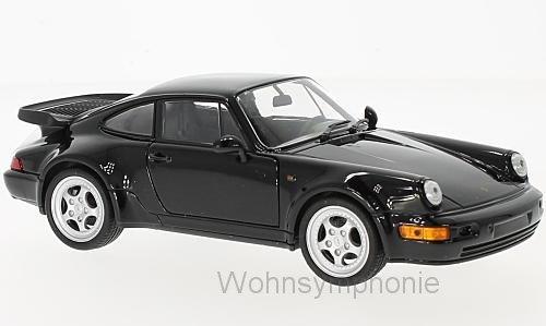 Modell 1:24 Porsche 911 Turbo 3.0,schwarz , 1974 Welly 24032