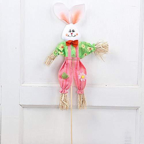 Lxj Halloween Ostern große Kaninchen Vogelscheuche Kunst Spaß Kindergarten handgemacht Farbe Tier Kinder handgefertigte niedliche Kaninchen