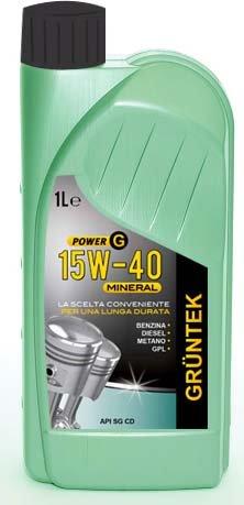 Olio Power G 15W40 Mineral 1L lubrificante auto