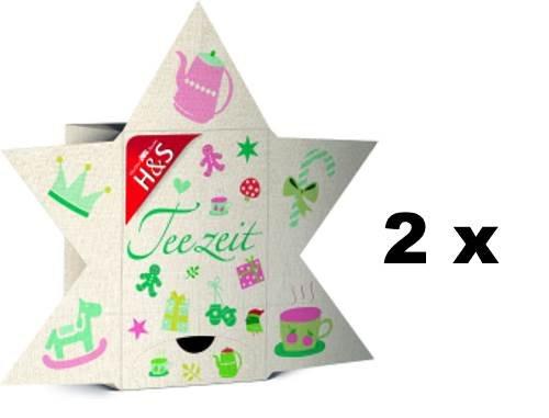 H & S Teezeit 2 x 24 verschiedene Teesorten für jeden Tag der Adventszeit ein anderer Genießertee